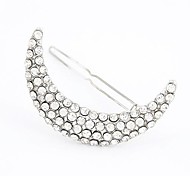 Classic European Style Fashion Flash Diamond Crescent Hairpin