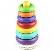 Rainbow Puzzle Shaking Ring Bell Toy for Babies