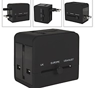 2 USB Port & Sockets Power Plug Charger Adapter for World Travel for Samsung Phone