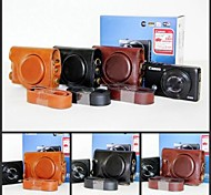 Pajiatu® Retro PU Leather Camera Protective Case Bag Cover for Canon Powershot S110 S120 S200