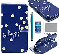 margarita de coco Fun® en modelo azul caja de cuero de la PU con el protector de pantalla y el lápiz para la galaxia magnífica 2 g7106