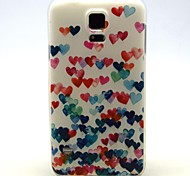 Love Dancing Pattern TPU Soft Case for Galaxy S5 Mini