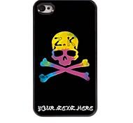 Personalized Phone Case - Unique Skull Design Metal Case for iPhone 4/4S