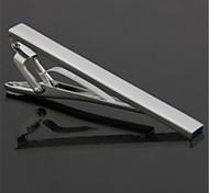 Simple Men Necktie Silver Tone Metal Clamp Tie Clip Clasp Bar Pin Wedding