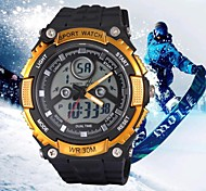 Men's Sports Watches 30M Waterproof Double Movt Analog Digital Military Wrist Watches (Assorted Colors)