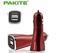 Pakite Dual USB Car Charger Large Current for Mobile Phone