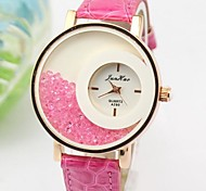 Women's Round Dial PU Band Quartz Fashion Watch(Assorted Colors)
