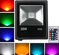 30 W 1 High Power LED 2400 LM RGB Remote-Controlled Flood Lights AC 85-265 V