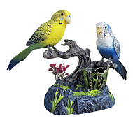 Couple Parrot Voice-Control with Pen Holder and Drawer Toys(Blue,Yellow)