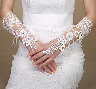 Wrist Length Glove Bridal Gloves Spring / Summer / Fall / Winter Ivory