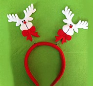 Christmas Red Flush Buckhorn Headband(6pcs)