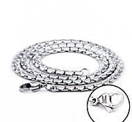 aço inoxidável cadeia gravado largura 0,5 centímetros colar de presente personalizado