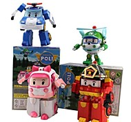 Robocar Poli  Joint Motion Action Figures Transforming Robot Toys (4pcs)