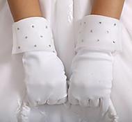 Wrist Length Fingertips Glove Satin Flower Girl Gloves Spring / Summer / Fall / Winter