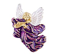 Fashion Colorful Christmas Father Pipa Shape Brooch