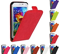 Flip-Open Horse Grain PU Leather Full Body Case for Samsung Galaxy S5 Mini (Assorted Colors)