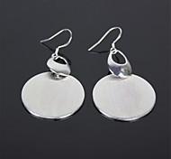 Kreisart 925 Silber Frauen Ohrringe - Silber (Paar)