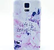 das Leben ist schön Muster TPU Papiereinband für Samsung-Galaxie s5 Mini