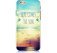 Setting Sun Sunset Pattern Hard Back Case for iPhone 6