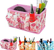 Folding Flower Pattern Cosmetics Storage Stand Box Makeup Brush Pot Cosmetic Organizer