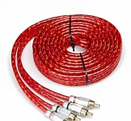 5m cable de audio del coche / subwoofer cable de señal de cabeza de cobre del cable del amplificador