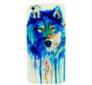 bunt gemischten Wolf-PC-Kasten für iphone 5/5s