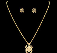 Fashion Spider Shape Golden Stainless Steel Jewelry Sets(1 Set)
