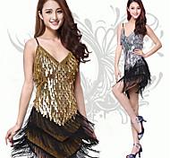 Dancer Shower Tassel Paillette Slip Latin Dress Women's Costume