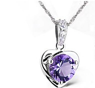 925 Women's Heart Print Necklace