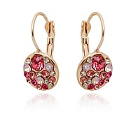 Women's Fashion Rose Gold Diamond  Clip Earrings(More Colors)