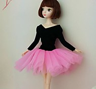 Party/Evening Dresses For Barbie Doll Black / Pink Dresses For Girl's Doll Toy