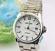 Women's Stainless Steel Automatic Mechanical Movement Business Table Watch Cool Watches Unique Watches