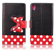 5.2 Inch Bowknot Pattern PU Wallet Leather Case for Sony Xperia Z3