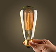 lámpara de filamento incandescente de 60W industrial retro vintage
