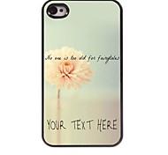 персонализированные телефон случае - цветок дизайн корпуса металл для iPhone 4 / 4s