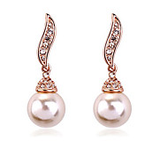 Earring Drop Earrings Jewelry Women Alloy / Imitation Pearl 2pcs Gold / Silver