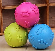 Claw Pattern Ball Shaped Rubber Chew Toy for Pet Dogs(Random Colour)