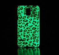 Leopard Pattern Glow in the Dark Hard Case for Samsung Galaxy S5