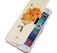 Balloon Pattern Magnetic Flip Full Body Case with Hole for iPhone 6
