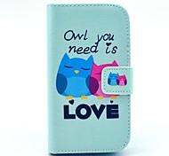 сову вам нужно любовь шаблон PU кожаный чехол с слотом для карт и стенд для Samsung Galaxy Ace 4 g313h