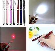 LT-4-In -1 Function  Ballpen Capacitive Touch Red Laser Pointer(5MW.650nm.3 X button cell.Multicolor)