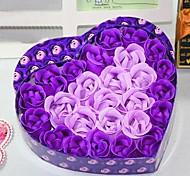 26 huile essentielle de rose coeur rose en forme de fleur de savon pour le corps