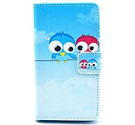 Lover Owl Pattern PU Leather Case with Screen Protector,Stylus,Dust Plug and Stand for Nokia Lumia N520