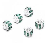 мода зеленый горный хрусталь сплав европейской нужным цепь браслет бусины 10 * 8 мм (1шт)