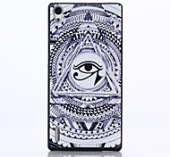 Eye Pattern PC Hard Back Case for Huawei Ascend P7