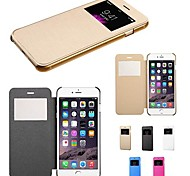 Touch View Flip Back Transparent Full Body Case for iPhone 6 (Assorted Color)