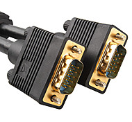 1m 3.28 pies VGA 3 + 9 macho para cable de conexión del monitor vga hd tv video masculino