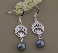 Fashion Jewelry Women's Silver Silver-Plated Drop Earrings AE808