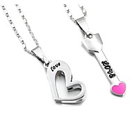 Pink Love Couples Necklace