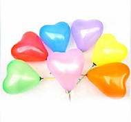 7 Inches Heart-shaped Balloon - 100 pcs (More Colors)